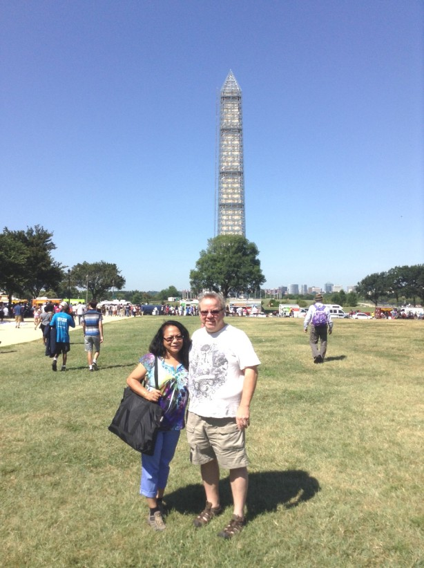 Another great pic in front of the Washington Monument!